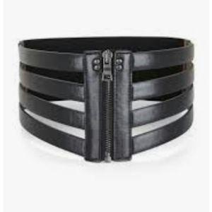 Bcbg Max azria Cage Zipper Waist Black Belt S Smal